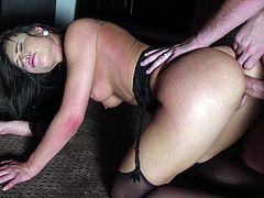 Aidra's sweet pussy is getting a good ramming in the darkness