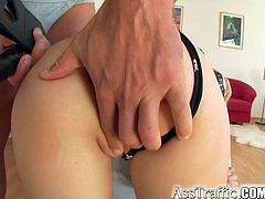 Ass Traffic Blindfolded gagged Diana gets butt banged and