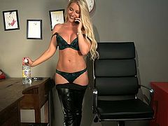 Mikaela Witt Tease Hour In Leggings & Thigh Leather Boots
