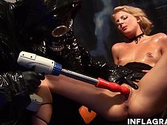 Two sexy blonde German babes are having a nice time kissing and licking pussy when darth vader cums in with his artillery and screws those pussies to orgasm.