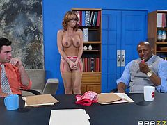office girl gangbanged on the meeting