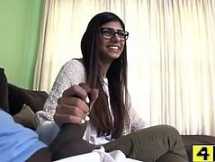 Mia Khalifa screaming in pain