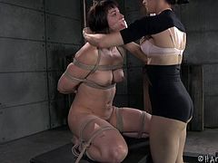 Chubby babe getting the BDSM treatment that she totally deserves