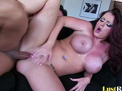 This busty beauty will seduce her partner with her voluptuous body, which will make him very hard. Nobody can ride a pulsating donger quite like Sophie Dee can, and she will even receive a juicy reward on her tatas.
