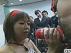 Subtitled CMNF ENF Japanese office sex toy showcase