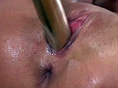 Visit official Wet And Pissy's HomepageCutie screams like a whore while pissing in a glass, all in scenes of perfect fetish solo combined with rough toy stimulation down the pussy and ass