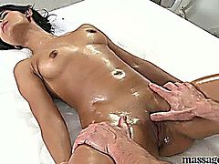 RiaGets Oiled and Fucked