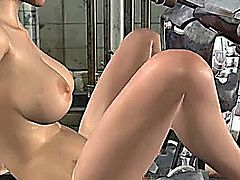 3D girl fucked by 3D robot