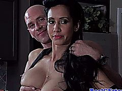 Dominant housewife gets a creampie