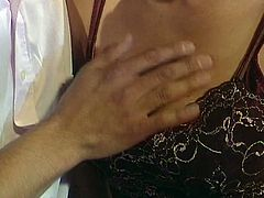 Blonde chich fucking  a hard cock