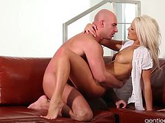Hot blonde Czech babe is so hot it makes you sweat. She strips, fingers her tight European pussy and taks a big dick squeezing it dry.