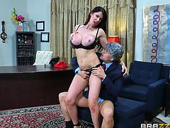 Eva Karera is one of the hottest milf porn stars out there. Her perfect huge boobs and big ass are every mans dream, and her cock sucking skills are unmatched! One blowjob from this beauty will send you to cock heaven. Who wouldn't love to get sucked off by Eva?!