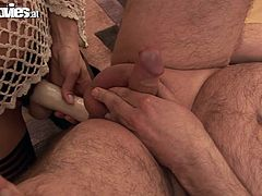 Marga is one hot skinny Granny that enjoys cock as much as always. Probably did not expect such a small dick but she still got a facial.