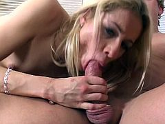 Blond young hussy gets laid