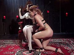 It's a real luck that this naughty and prankish babe Savannah Fox, was brought in confident hands of Chanel Preston, for some proper educational lessons. Experienced mistress will teach her how to obey, to satisfy your master's will and be a good girl. Watch breathtaking ass spanking and punishment!