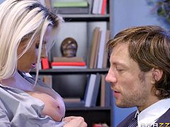 When naughty Rachel, a superb redhead milf with voluptuos boobs, gets in the boss's office, she finds a horny blonde sucking Jean's dick passionately. Click to enjoy the spicy moments and watch, what these hot ladies are up to next!