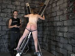 This big sassy ass surely deserves what she gets and what is the most important thing, she obviously gets even some pleasure from this. Curvy Danielle is moaning loud, as her boyfriend spanks her mushy butt restlessly. She is tied to a bondage device and must get this punishment to the fullest. Enjoy!