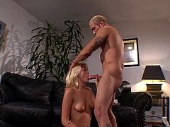 Teen blonde likes a monster cock