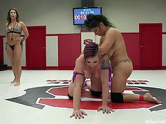 Mistress Kara was all over Izamar, as soon as the match started. The beautiful Latina never had a chance against her opponent, who outscored her by over 400 points! You know Kara has some humiliation in mind for when the match officially ends.