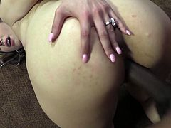 Blonde Alana Luv gives blowjob to well endowed BBC before rough and dirty fuck