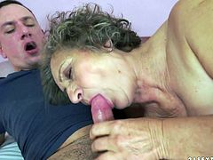 Old slut Kata takes young dick in her ugly old twat