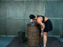 Slave girl tortured and humiliated in the dungeon
