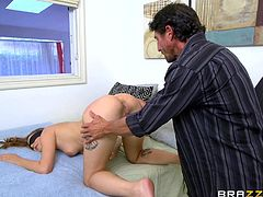This young submissive hottie was naked and blindfolded herself, to surprise her BF. But, the muscled stud used this opportunity to fuck her and she realized her mistake in the middle of fucking session. She couldn't say NO or STOP to this muscled guy and they ended the session on a happy note.