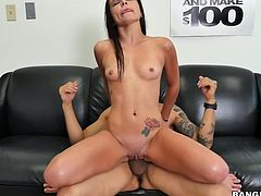 Every model has to gift her body to producer, before she get a role. This video will show, how Kharlie was fucked during casting. She was drilled in reverse cowgirl, with hands tied behind, making the penetration deeper. She was crying, when fat dick was shoved inside her ass hole.