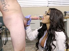 Imagine having a sexy doctor like August Taylor, with big boobs and beautiful big ass. Now just imagine getting lucky and having your dick sucked by such sexy doctor, during your appointment. Didn't you ever dream about fucking your hot doc? We bet you did, so come in and join us at Doctor Adventures!