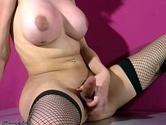 doll with balls fondles big ass in thongs and wanks shecock