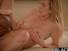 Brett Rossi always loved fucking big black cocks. Sexy babe is always cock hungry and only Flash Brown managed to fulfill her needs to the fullest. She loves getting fucked by him in all holes and she is happiest, when he unloads the cum all over her white body. She likes them big and black!