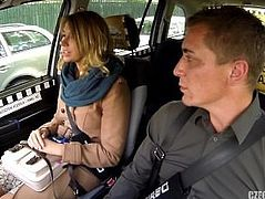 Ani Black Fox sex in taxi