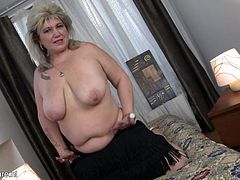 Old is certainly gold! This old lady brings out her big round boobs and plays with them. Her long tongue and pink nipples are enough to turn you on. But when they meet, it creates quite a scene! She definitely knows how to juice you up...