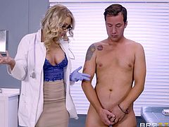 There is something about female doctors in their tight uniforms that makes our cocks hard in an instant. Especially if the doctor has assets like our Katie Morgan. Just imagine coming in your doctors office for a check up and ending up getting your dick wet! Who hasn't fantasized about that?!