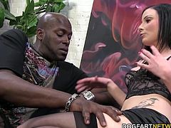 Lexington Steele is consulting Veruca James and her boyfriend Wade. Consultation turns into hardcore pussy and ass fucking...