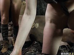Brunette Monique Alexander with massive knockers is hungry for sex and gets used by horny Danny D