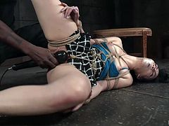 BBC punishes nasty Aria Alexander with the help of long stick and vibrator