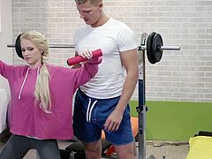 Relaxxxed - Sensual Czech blondie Rossella Visconti takes dick at the gym