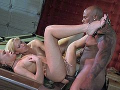 Glamorous Carly Parker decides to share the black cock with a friend