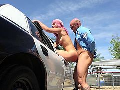 Visit official Mofos Network's HomepageSlutty young babe wants to get free and she is willing to do anything with this horny cop in exchange for him to let her go