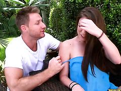 Levi Cash gets pleasure from fucking Brunette Dillion Carter with huge knockers and trimmed snatch in her hole