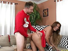Levi Cash touches the hottest parts of glamorous Nicky Ferraris body before he bangs her mouth