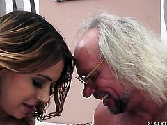 Brunette in sexual ecstasy with hot guy