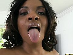 Cris Commando has fantastic oral sex with Brunette ebony Dee Rida with round bottom and clean beaver