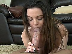 Brunette Tessa wants guy's man meat to fuck her soft hands non-stop