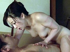 Yu Kawakami is one helluva sexy Japanese milf. This cock hungry gal with nice tits and big ass loves big dicks. She is extremely passionate when it comes to fucking. She loves to kiss a lot, especially while riding a big dick. This gorgeous, tender milf is a dream come true for many.