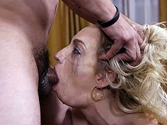 Join us and see what changes will happen to Zoey Parker's face, during this deepthroat blowjob. He shoved his huge dick right down to her tonsils and she was sucking this cock and balls, on knees, with great passion. Her makeup was smeared and her face was glazed with his jizz. Have fun!