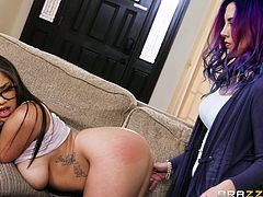 A soft touch on Jelena Jensen's pussy will make her scream in pleasure and Cassidy Banks used this trick to seduce her. Though she was afraid, she liked it. She liked the thrill of being enjoyed by another woman. Once the lesbian encounter started, there was no looking back and both of them enjoyed.