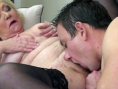 mature lady fucks her new lover