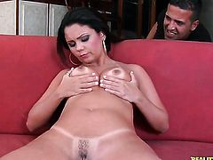 Tattooed Suzana Rio with juicy butt and bald muff wants this solo sex session to last forever